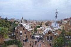 Parkera GÃ-¼engelsk aln, Barcelona, Catalonia, Spanien Royaltyfri Fotografi