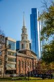 Parkera gatakyrkan - Boston, Massachusetts, USA Royaltyfria Foton