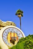 Parkera Guell barcelona catalonia spain Royaltyfri Foto