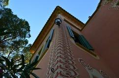 Parkera Guell, Barcelona, Spanien. fotografering för bildbyråer