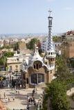 Parkera Guell Barcelona, Spanien Royaltyfri Fotografi