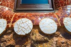Parkera Guell - Barcelona Spanien Arkivfoton
