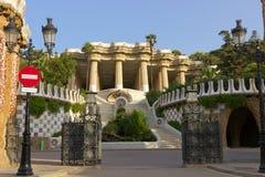 Parkera Guell i Barcelona Fotografering för Bildbyråer