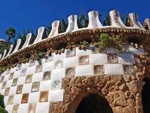 Parkera Guell i Barcelona, Spanien Fotografering för Bildbyråer