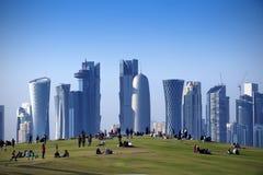 Parkera i centrala Doha, Fotografering för Bildbyråer