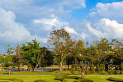 Parkera i den Chang staden, Chanthaburi, strand, Thailand Royaltyfri Fotografi