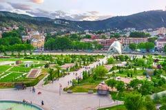Parkera i hjärta av Tbilisi Royaltyfria Foton