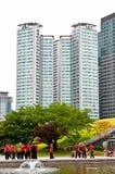 Parkera i i stadens centrum Seoul Fotografering för Bildbyråer