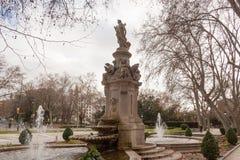 Parkera i Madrid Arkivfoto
