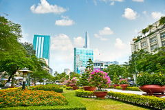 Parkera i mitt av Ho Chi Minh City, Vietnam Arkivbild