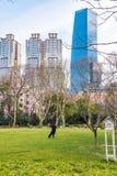 Parkera i Shanghai royaltyfria bilder