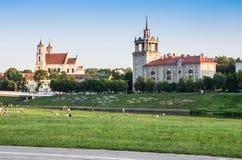 Parkera i Vilniusen Arkivbild