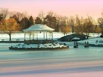 Parkera i vinter Fotografering för Bildbyråer