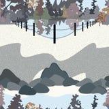 Parkera landskapillustrationen vektor illustrationer