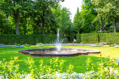 Parkera Lichtenwalde i Sachsen, Tyskland Royaltyfri Bild