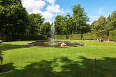 Parkera Lichtenwalde Schwimmreifenmann Paul i Sachsen, Tyskland Royaltyfri Foto