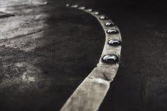 Parkera linjen för markering för däckgolvasfalt Royaltyfri Fotografi