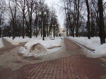 Vintern parkerar Arkivbild