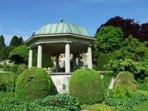 Parkera och arboretumen Seeburgpark i Kreuzlingen arkivfoto