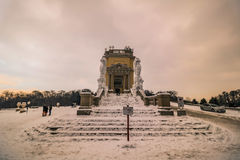 Parkera och förlägga Schönbrunn Wien Arkivbild