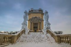Parkera och förlägga Schönbrunn Wien Royaltyfri Foto