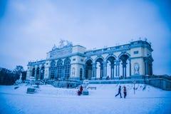 Parkera och förlägga Schönbrunn Wien Arkivfoton