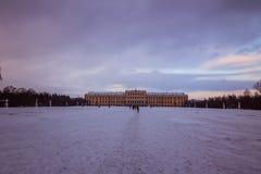 Parkera och förlägga Schönbrunn Wien Arkivbilder