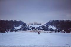 Parkera och förlägga Schönbrunn Wien Royaltyfria Bilder