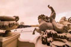 Parkera och förlägga Schönbrunn Wien Royaltyfri Fotografi