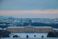 Parkera och förlägga Schönbrunn Wien Fotografering för Bildbyråer