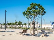 Parkera på Marseille port Arkivbilder
