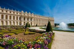 Parkera på slotten av Versailles (Frankrike) Fotografering för Bildbyråer