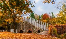 Parkera platsen på den Ljubljana slotten, Slovenien Arkivfoton