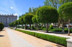 Parkera Retiro i Madrid Royaltyfria Foton