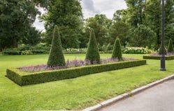 Parkera runt om Royal Palace - Oslo Royaltyfri Fotografi