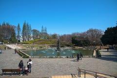 Parkera Setagaya, i Tokyo, Japan royaltyfri foto