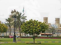 Parkera Sharjah royaltyfria foton
