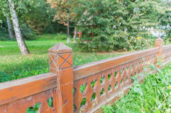 Parkera staketet royaltyfri fotografi