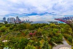 Parkera trädgårdar vid fjärden - Singapore Royaltyfri Bild