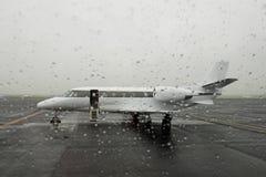 parkerad stråle för luftflygplatsaffär arkivfoto