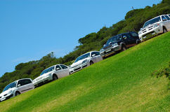 parkerade bilar fotografering för bildbyråer