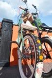 Parkerade cyklar. Festival Royaltyfri Fotografi