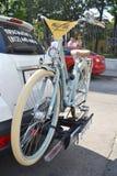 Parkerade cyklar. Festival Royaltyfria Bilder