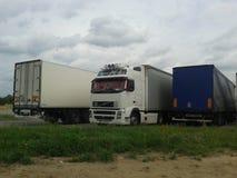 parkerade lastbilar Royaltyfria Foton