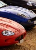 Parkerade sportbilar Arkivbild