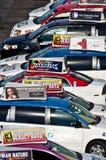 Parkerade taxi Fotografering för Bildbyråer