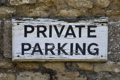 parkerande privat tecken Royaltyfri Foto