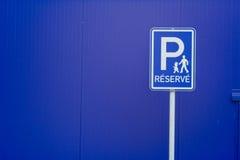 parkerande reserved tecken Royaltyfri Foto