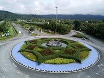 Parkerar den formella trädgården för den flyg- sikten i kunglig person Ratchaphruek på Chaingmai, Thailand Fotografering för Bildbyråer