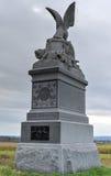 parkerar den minnes- Gettysburg för 88th Pennsylvania infanteri nationella militären Fotografering för Bildbyråer